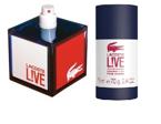 SET LACOSTE Live Pour Homme EDT spray 60ml + STICK 75ml